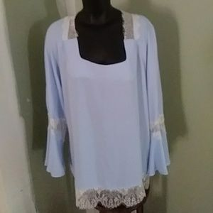 NY Collection Long Sleeve Blouse